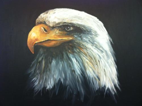 Eagle volgens de olieverf schildertechniek van Gary Jenkins