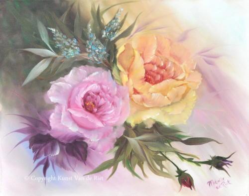 Gele & roze roos