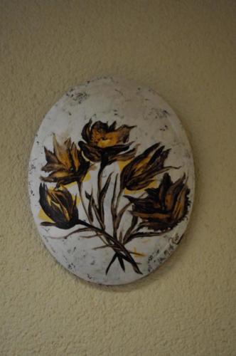Bladgoud en zilver bloemen