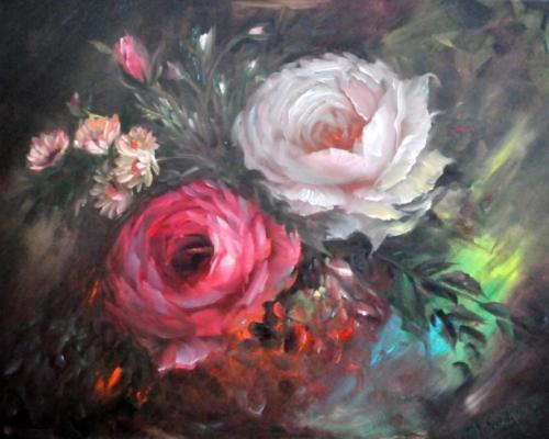 Rode en witte roos volgens de Gary Jenkins stijl